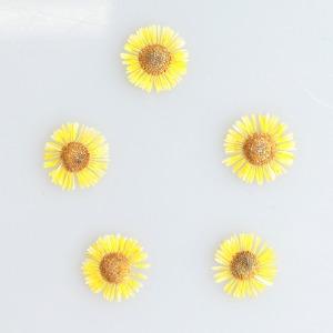 압화/꽃송이 미니망초 - 옐로우 20송이