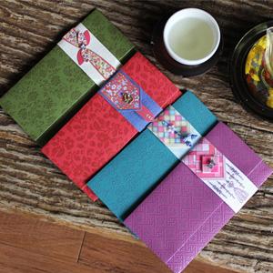 전통봉투한복 비단 - 보라빛비단